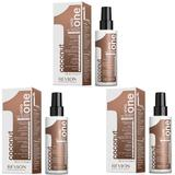 Pachet 3 x Tratament cu Nuca de Cocos - Revlon Professional Uniq One All In One Coconut Treatment 150 ml