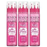 Pachet 3 x Balsam Leave-In pentru Copii - Revlon Professional Equave Kids Detangling Conditioner Princess Look, 200ml