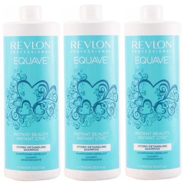 Pachet 3 x Sampon Hidratant - Revlon Equave Instant Beauty Hydro Detangling Shampoo 1000ml imagine produs
