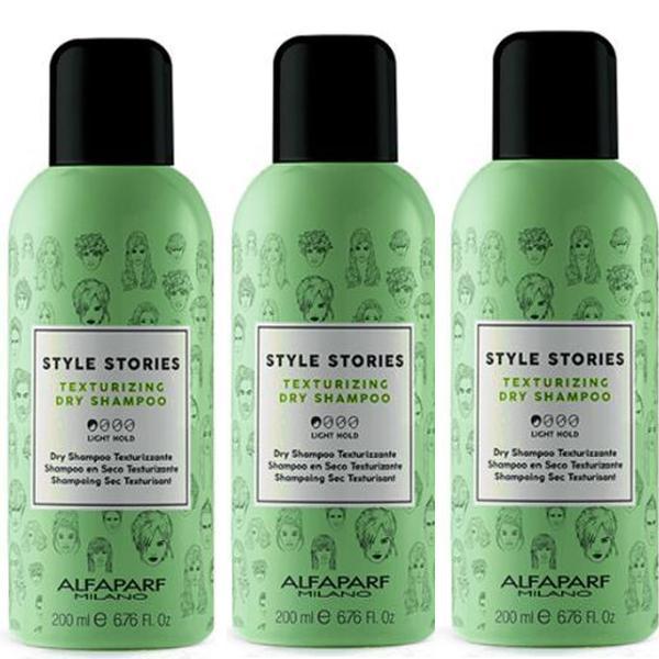 Pachet 3 x Sampon Uscat - Alfaparf Milano Style Stories Texturizing Dry Shampoo, 200ml