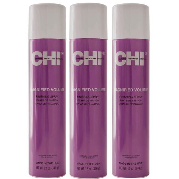 Pachet 3 x Fixativ CHI Farouk Magnified Volume Finishing Spray 340g imagine produs
