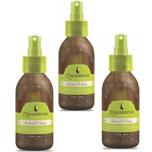 Pachet 3 x Ulei pentru Hidratare si Stralucire - Macadamia Natural Oil Healing Oil Spray 125 ml imagine produs
