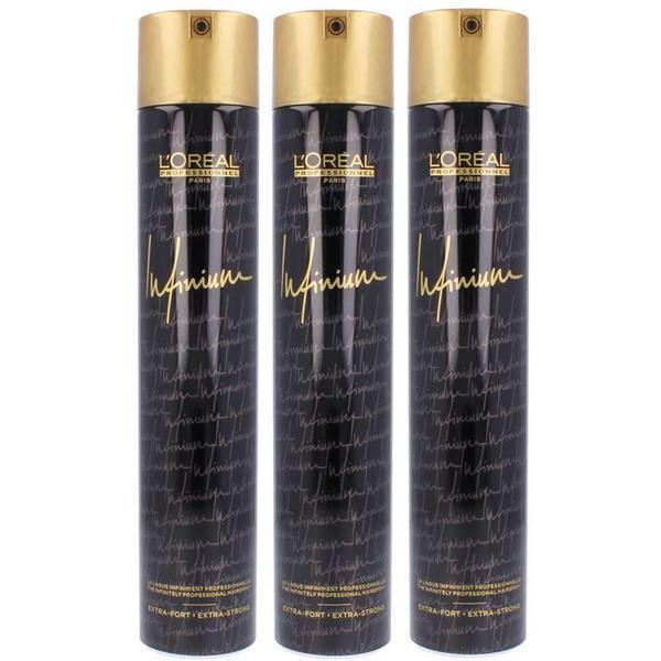 Pachet 3 x Fixativ cu Fixare Extra-Strong - L'Oreal Professionnel Infinium Extrastrong Hairspray 500 ml imagine produs
