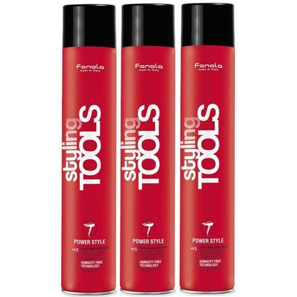Pachet 3 x Spray Fixativ cu Fixare Extra Puternica - Fanola Styling Tools Power Style Extra Strong Hair Spray, 750ml imagine produs