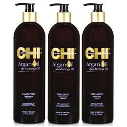 Pachet 3 X Sampon Cu Ulei De Argan - Chi Farouk Argan Oil Plus Moringa Oil Shampoo 739 Ml