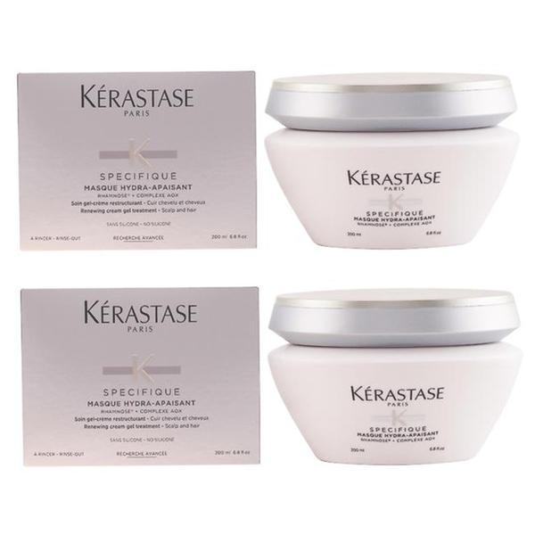 Pachet 2 x Masca-Tratament pentru Hidratare si Regenerare - Kerastase Specifique Masque Hydra-Apaisant Renewing Cream Gel Treatment, 200ml imagine