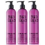 Pachet 3 x Sampon pentru Par Tratat - TIGI Bed Head Dumb Blonde Shampoo 400 ml