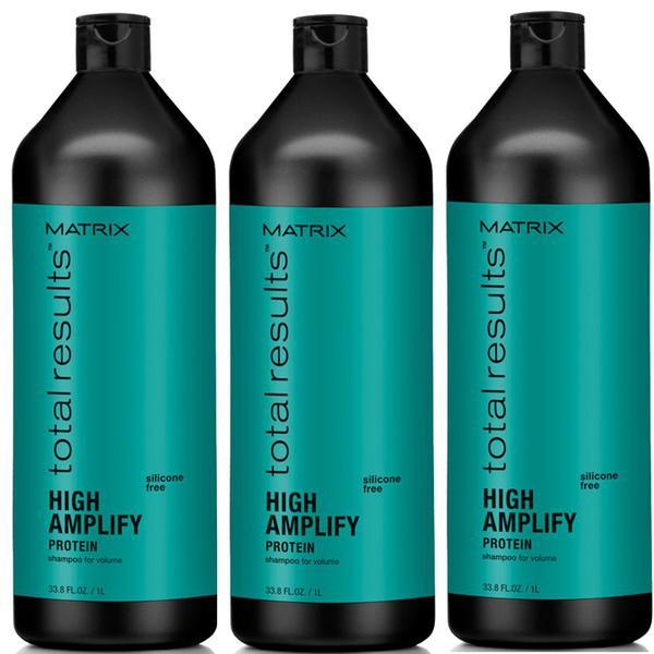 Pachet 3 x Sampon pentru Volum - Matrix Total Results High Amplify Shampoo 1000 ml imagine produs