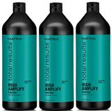Pachet 3 x Sampon pentru Volum - Matrix Total Results High Amplify Shampoo 1000 ml