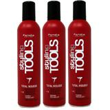 Pachet 3 x Spuma cu Fixare Extra Puternica - Fanola Styling Tools Total Mousse Extra Strong Mousse, 400ml