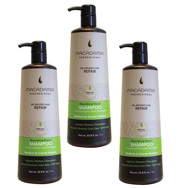 Pachet 3 x Sampon Nutritiv - Macadamia Professional Nourishing Moisture Shampoo 1000 ml imagine produs