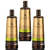 Pachet 3 x Balsam Hidratant pentru Bucle - Macadamia Professional Ultra Rich Moisture Conditioner 1000 ml