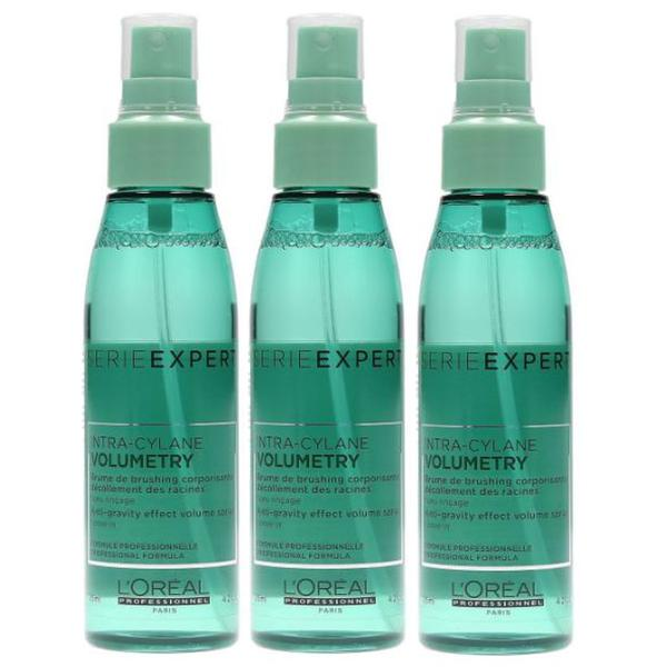 Pachet 3 x Spray Leave In pentru Par Fin - L'Oreal Professionnel Volumetry Anti Gravity Effect Volume Spray 125 ml imagine produs