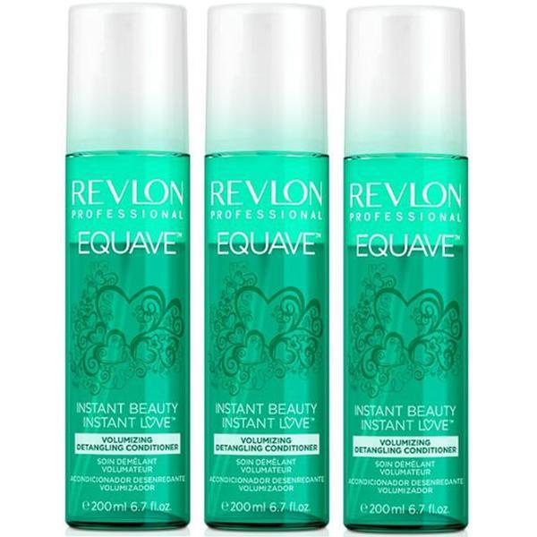 Pachet 3 x Balsam pentru Volum - Revlon Professional Equave Instant Beauty Volumizing Detangling Conditioner 200 ml imagine produs