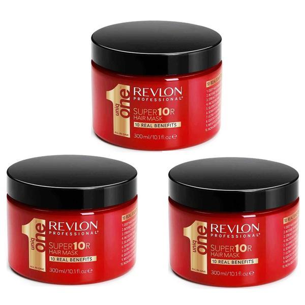 Pachet 3 x Masca Nutritiva - Revlon Professional Uniq One All In One Super 10R Hair Mask 300 ml imagine