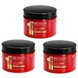 Pachet 3 x Masca Nutritiva - Revlon Professional Uniq One All In One Super 10R Hair Mask 300 ml