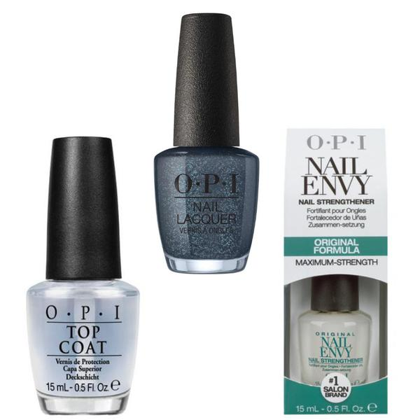 Set - OPI Nail Laquer - GREASE Danny & Sandy 4 Ever! - Lac de Unghii Colorat OPI, Baza OPI, Top OPI imagine produs