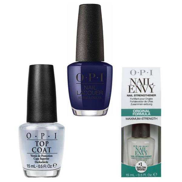 Set - OPI Nail Laquer - NUTCRACKER March in Uniform - Lac de Unghii Colorat OPI, Baza OPI, Top OPI imagine produs