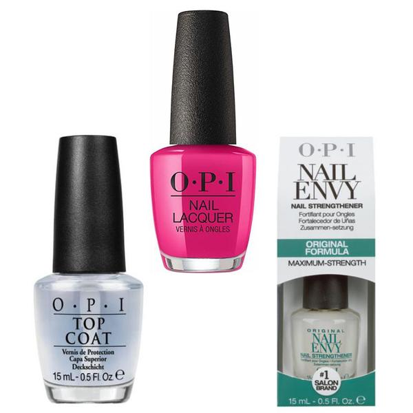 Set - OPI Nail Laquer - NUTCRACKER Toying with Trouble - Lac de Unghii Colorat OPI, Baza OPI, Top OPI imagine produs