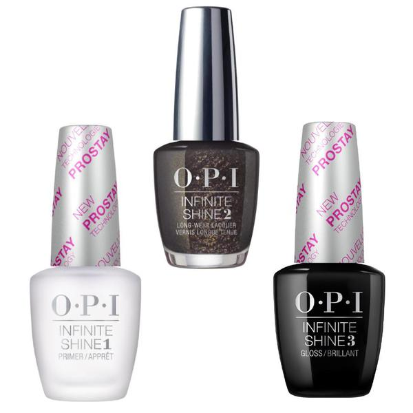 Set - OPI Infinite Shine - XOXO Top the Package with a Beau - Lac de Unghii Colorat OPI, Baza OPI, Top OPI imagine produs