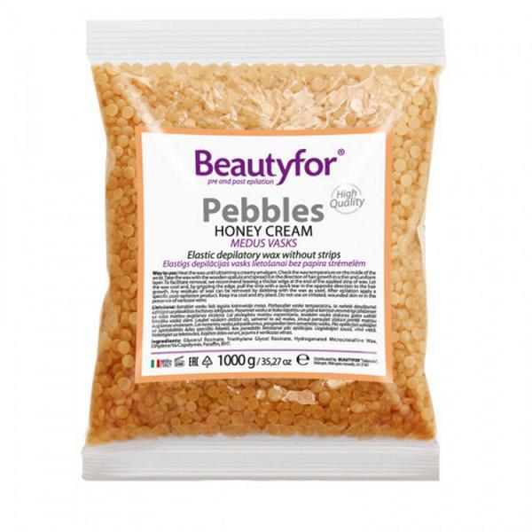 Perle de Ceara Depilatoare - Beautyfor Pebbles Honey Cream, 1 kg imagine produs