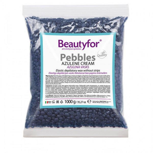 Perle de Ceara Depilatoare - Beautyfor Pebbles Azulene Cream, 1 kg imagine produs