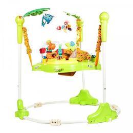 Jumper cu activitati Malplay Padurea tropicala cu animalute pentru bebelusi , verde