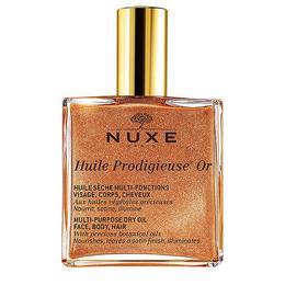 Ulei uscat corp și păr cu sidef auriu Nuxe Huile Prodigieuse 50 ml de la esteto.ro