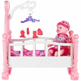 Set de joaca pentru copii MalPlay Bebelus,patut,carusel si accesorii