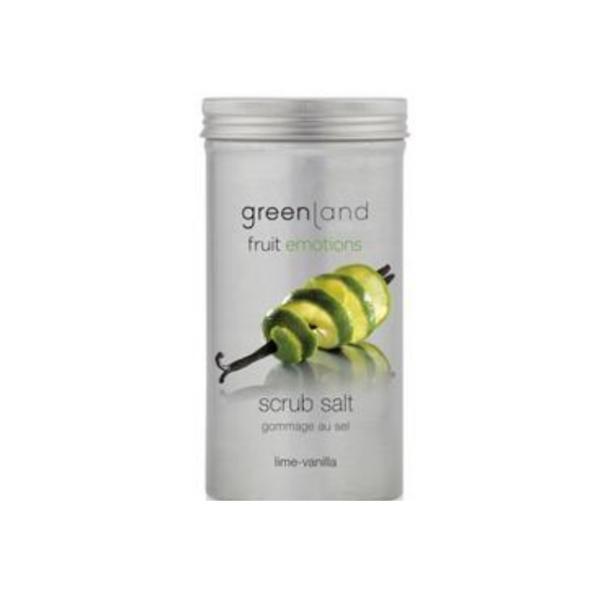 Sare exfolianta, cu lamaie verde si vanilie, Greenland, 400 gr