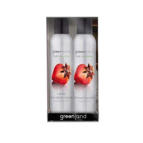 Set cadou Fruit Emotions Capsuni-Anason, gel de dus 200ml + spray corp 200ml, Greenland esteto.ro