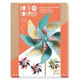 Set DIY Djeco, moriști de vânt, modele cu flori