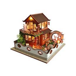 Joc interactiv, macheta casuta de asamblat, miniatura, cadou zi de nastere, aniversare, DIY, Primavara in Asia