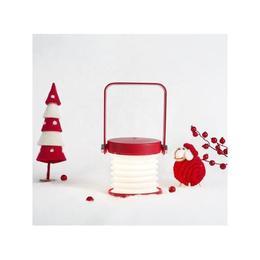 Lampa multifunctionala Christmas Night, citit, ambientala, veghe, lanterna, LED, USB, 4W, cu touch, 3 luminozitati, portabila, reincarcabila, protectie ochi, red