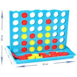 Joc de societate pentru copii MalPlay Line Up 4 cu jetoane colorate