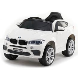 Masinuta electrica cu roti de cauciuc BMW X6M White JJ2199