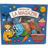 Bebe invata. Carte cu puzzle. La magazin, editura Litera