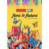 Flori si fluturi. Carte de colorat - Ioan-Stefan Zandes, editura Niculescu