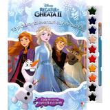 Disney: Regatul de gheata II. Sa pictam noi aventuri cu Anna si Elsa. Carte de colorat, editura Litera