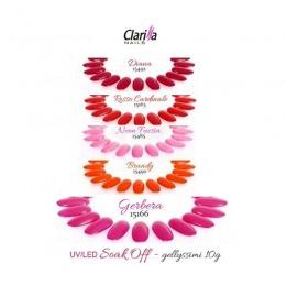 Pachet Clarissa Gel UV/ Led Color - Brandy, Diana, Gerbera, Neon Fucsia si Rosso Cardinale