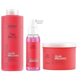 Pachet pentru Par Vopsit Fin sau Normal Wella Professionals Invigo Color Brilliance - Sampon, Masca, Tratament