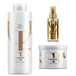 Pachet 2 Wella Professionals Oil Reflection Luminous - Sampon, Masca si Ulei