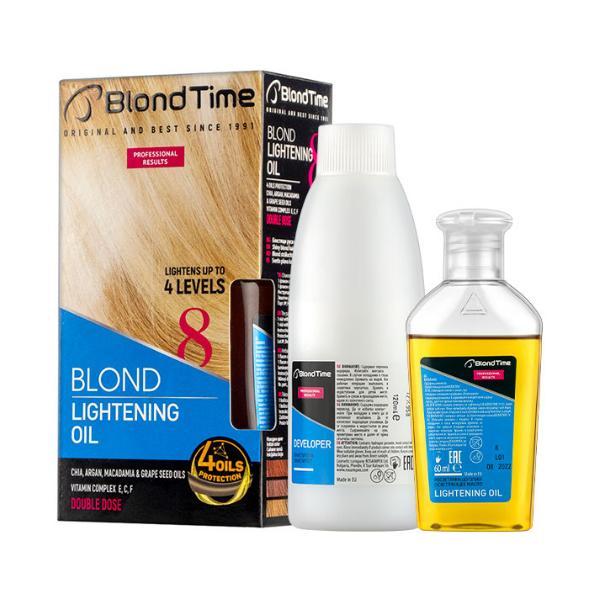 Decolorant Ulei pentru Par Blond Blond Time nr. 8 Rosa Impex, 120ml + 60g poza