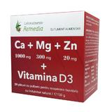 Ca + Mg + Zn + Vitamina D3 Remedia, 20 doze