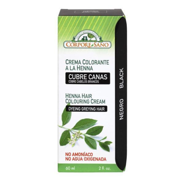 Vopsea henna crema semipermanenta Negru Corpore Sano 60ml imagine produs