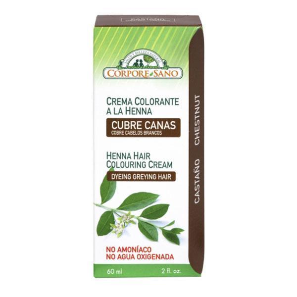 Vopsea henna crema semipermanenta Castaniu Corpore Sano 60ml imagine produs