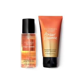 Set cadou Victoria Secret, Amber Romance Gift Set, Spray Corp 75 ml + Body Lotion 75 ml de la esteto.ro