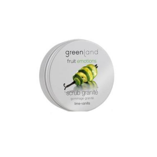 Exfoliant corporal granita, cu lamaie verde si vanilie, Greenland, 200 ml