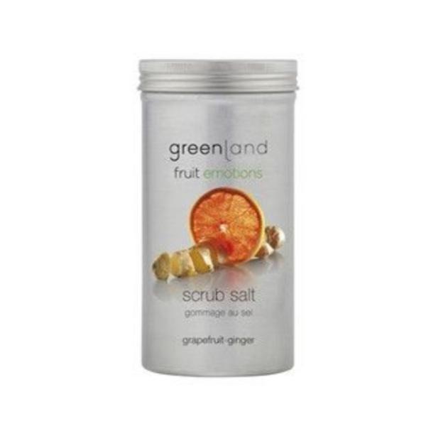 Sare exfolianta, cu ghimbir si grepfruit, Greenland, 400 gr
