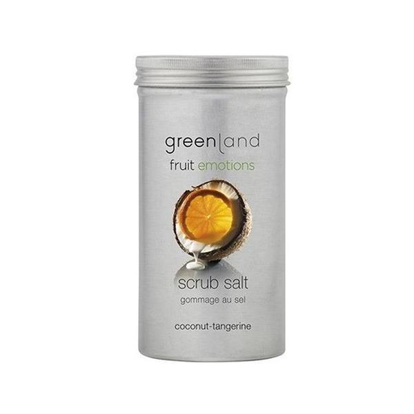 Sare exfolianta, cu cocos si mandarine, Greenland, 400 gr